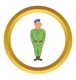 Man in green army uniform icon vector image vector image