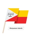 Marquesas Islands Ribbon Waving Flag Isolated on vector image vector image