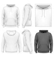 Mens hoodie design template vector image vector image
