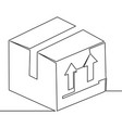 one continuous line delivery box concept vector image