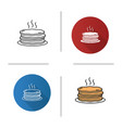 pancakes stack icon vector image vector image