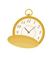 pocket watch flat retro vector image