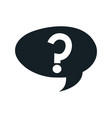 questions sign support speech bubble vector image vector image