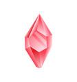 ruby crystal precious gemstone or semiprecious vector image vector image