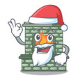 santa luxury fireplace isolated on the mascot vector image