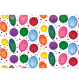seamless texture with festive balloons on a white vector image vector image