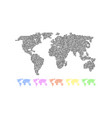 set colored world maps vector image vector image