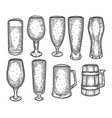 sketch of beer mug or jug cup or goblet tankard vector image