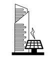 smart city building solar panel vector image