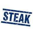 square grunge blue steak stamp vector image vector image
