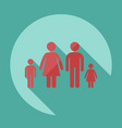 stick figure family dad mom son daughter vector image vector image