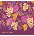 Sweet grape vines horizontal border seamless vector image