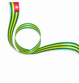 togo wavy flag background vector image vector image