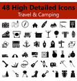 Travel and Camping Smooth Icons vector image vector image