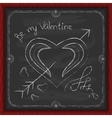 Valentines Day background chalk on a blackboard vector image vector image