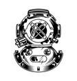 vintage diving helmet concept vector image vector image