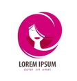 young woman logo design template cosmetic vector image