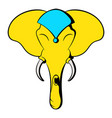 head of elephant icon cartoon vector image