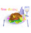 fine dining vector image