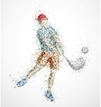 Abstract golf player vector image