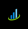 business finance chart logo vector image