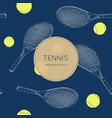 drawing tennis set seamless vector image