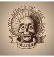 halloween hand draw skull Eps10 vector image