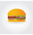 Hamburger Flat icon with tasty vector image