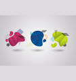 abstract geometric shapes design vector image vector image