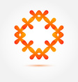 abstract symbol in orange colors made of many vector image vector image