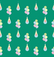 baby flying on balloons seamless pattern vector image vector image