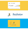 beautiful plant logo and business card vertical vector image vector image