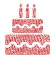 birthday cake fabric textured icon vector image