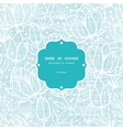 Blue lace flowers textile frame seamless pattern vector image vector image