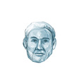 Blue Man Identikit Drawing vector image