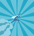 Business man fly on the sky vector image vector image
