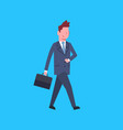 business man with suitcase male office worker vector image vector image