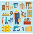 Carpentry icon flat vector image vector image