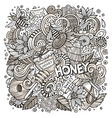 Cartoon cute doodles Honey vector image vector image