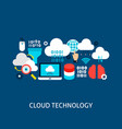 cloud technology concept vector image vector image