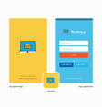 company online banking splash screen and login vector image