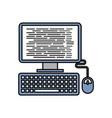 computer programm coding web page software vector image vector image
