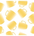 cups seamless background template for design vector image vector image