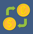 Currency exchange Dollar and Colon vector image vector image