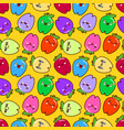 cute childish seamless pattern as smiling cartoon vector image