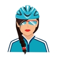 cyclist sunglasses helmet icon vector image vector image