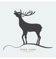 Deer label vector image