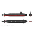 detailed image of submarine military ship vector image vector image