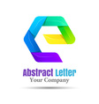 E Letter Logo Icon Element design Template for vector image