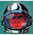 Emoticon evil Emoji face man astronaut retro